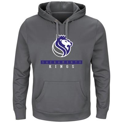 Sacramento Kings Men's Team Logo Performance Pullover Hoodie - Charcoal XXL