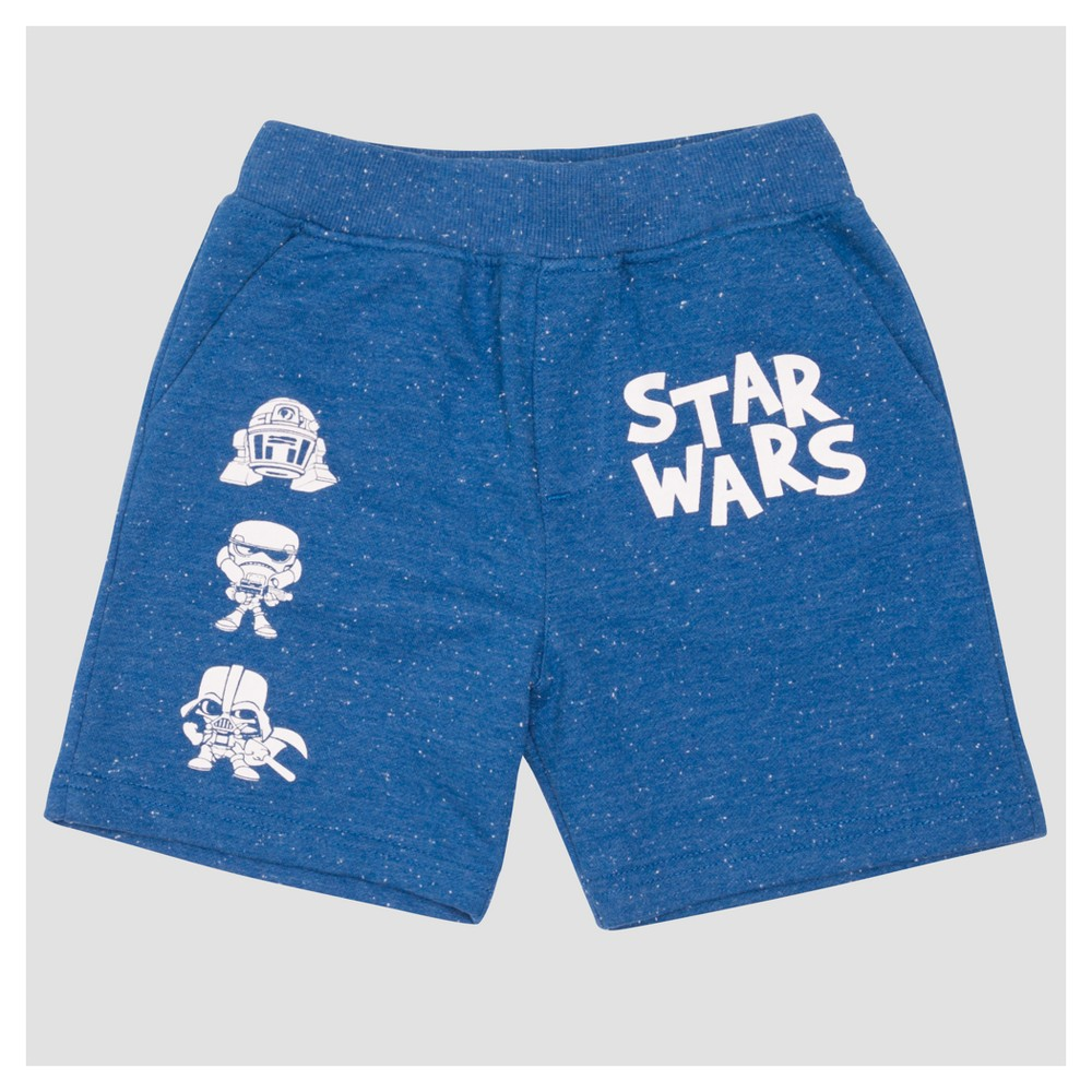 Jogger Shorts Star Wars Star Wars Bright Navy 12 Months, Toddler Boys, Blue