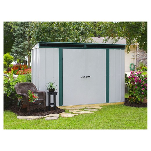 Garden Sheds 10 X 3 euro - lite™ pent window shed, 10' x 4' - arrow storage products
