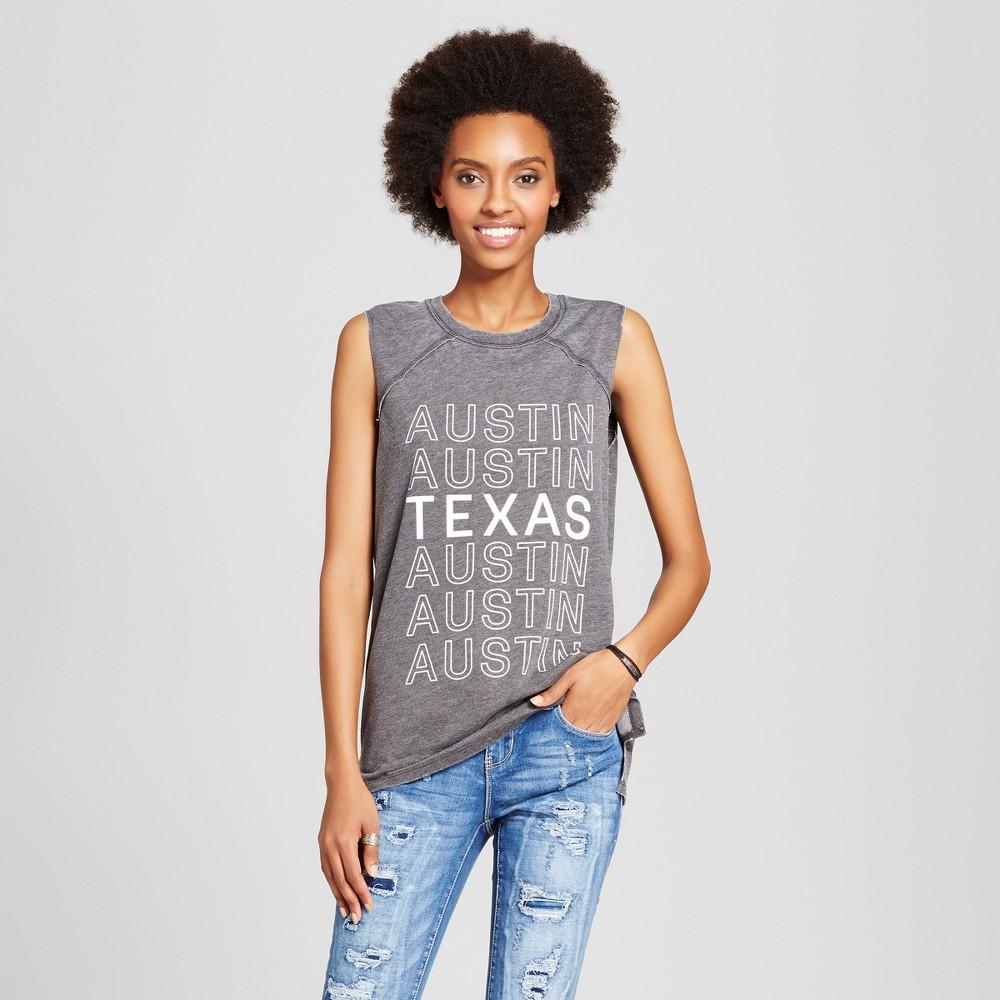 Womens Austin Texas Graphic Tank Top Black XL - Grayson Threads (Juniors)