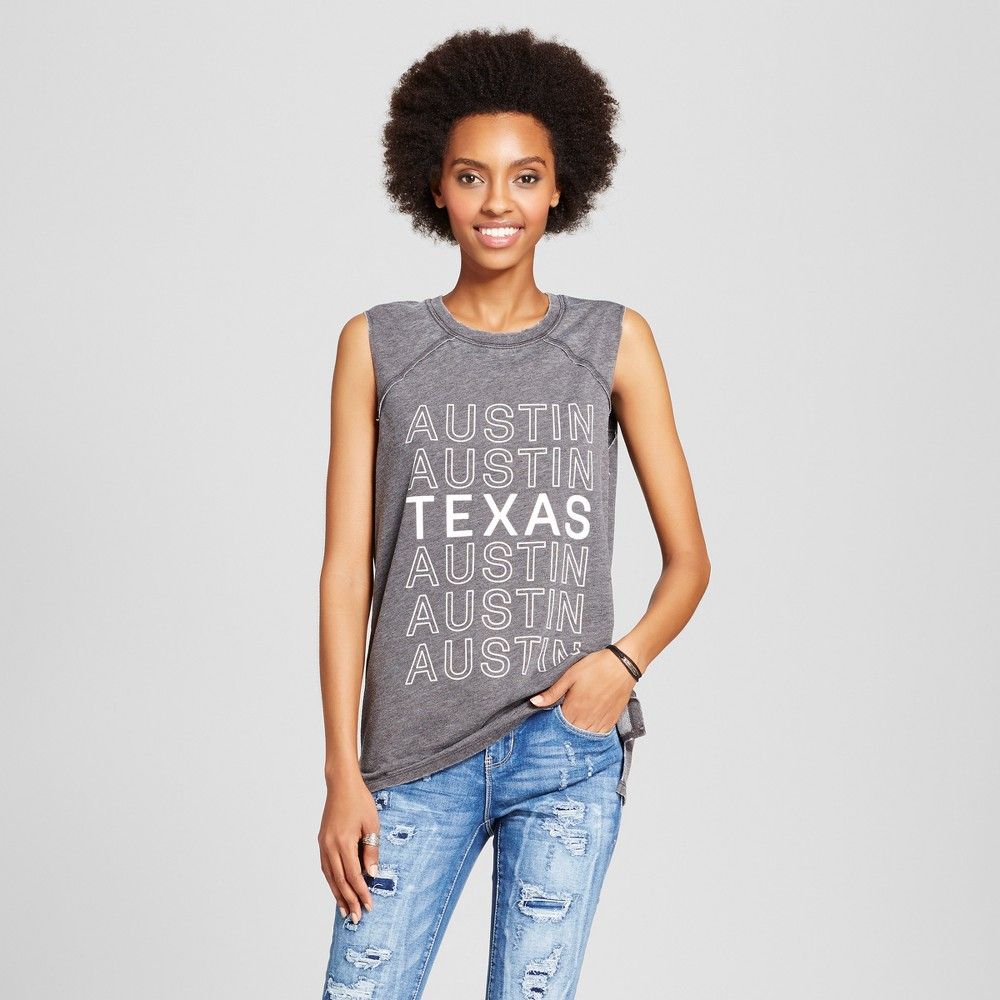 Womens Austin Texas Graphic Tank Top Black XS - Grayson Threads (Juniors)