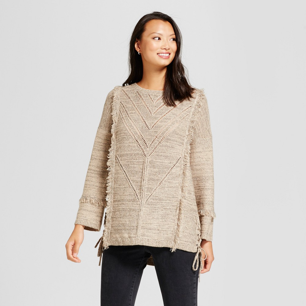Womens Side Tie Tunic Sweater - Knox Rose Taupe Xxl, Gray