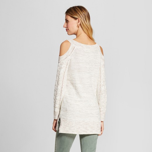 Women's Patchwork Could Shoulder Tunic Sweater - Knox Rose™ Ivory ...