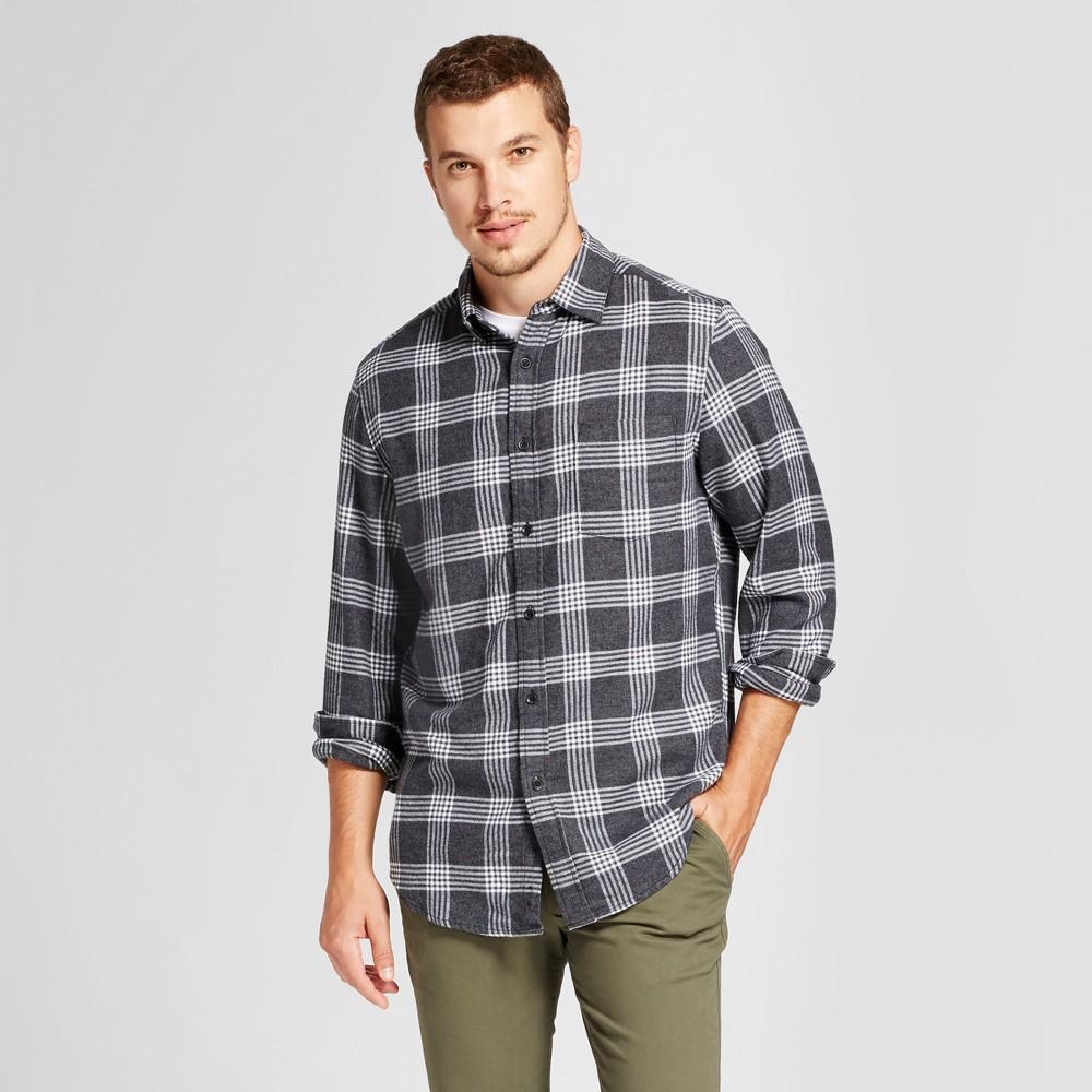 Mens Standard Fit Button Down Dress Shirt - Goodfellow & Co Black Xxl