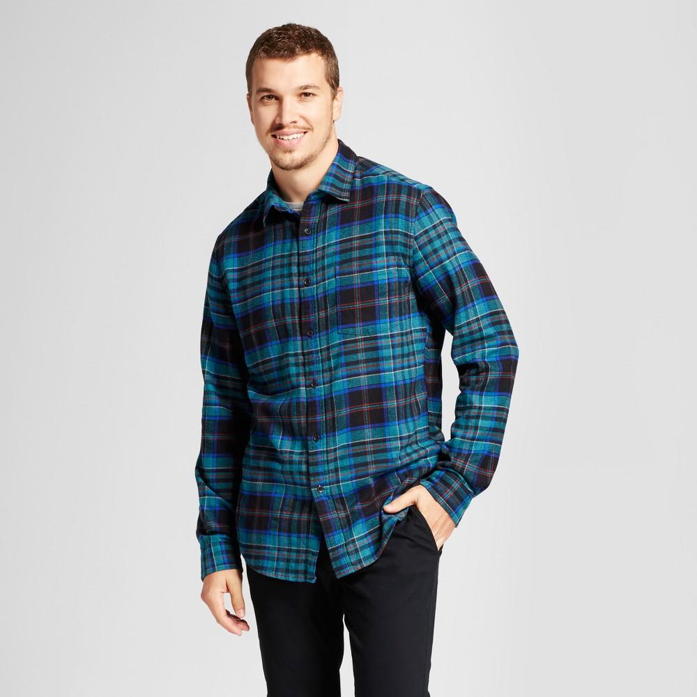 Men's Heavyweight Flannel Shirt - Goodfellow & Co Mint Green XL