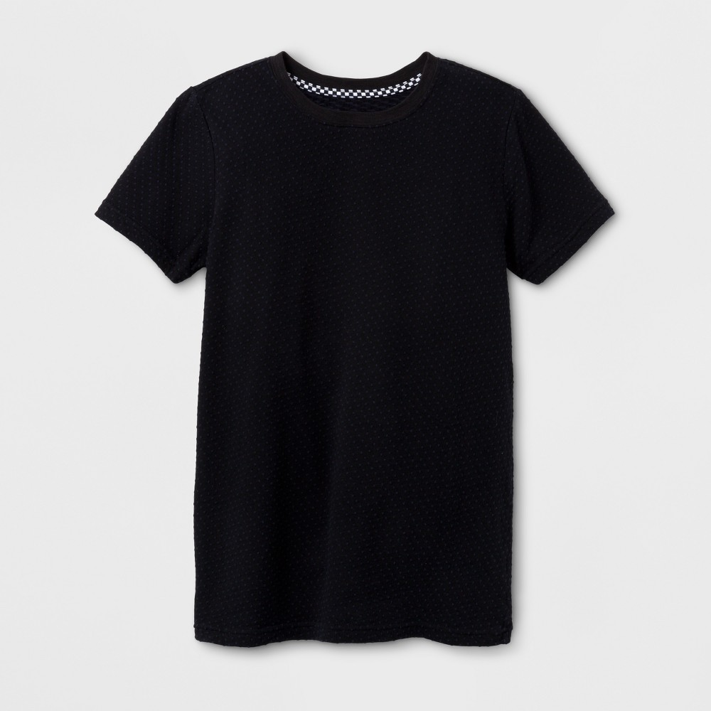Boys Textured Short Sleeve T-Shirt - Art Class Black XL