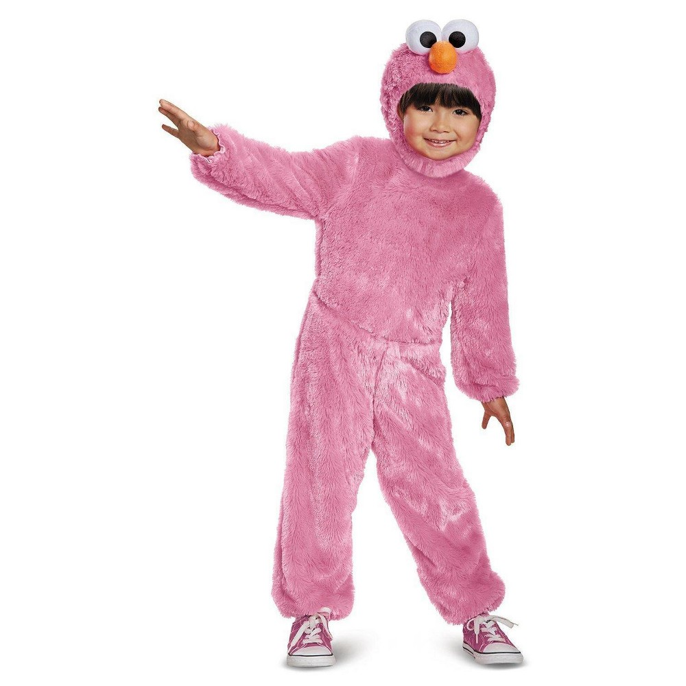 Girls Pink Elmo Comfy Fur Toddler Costume 3T-4T, Multicolored