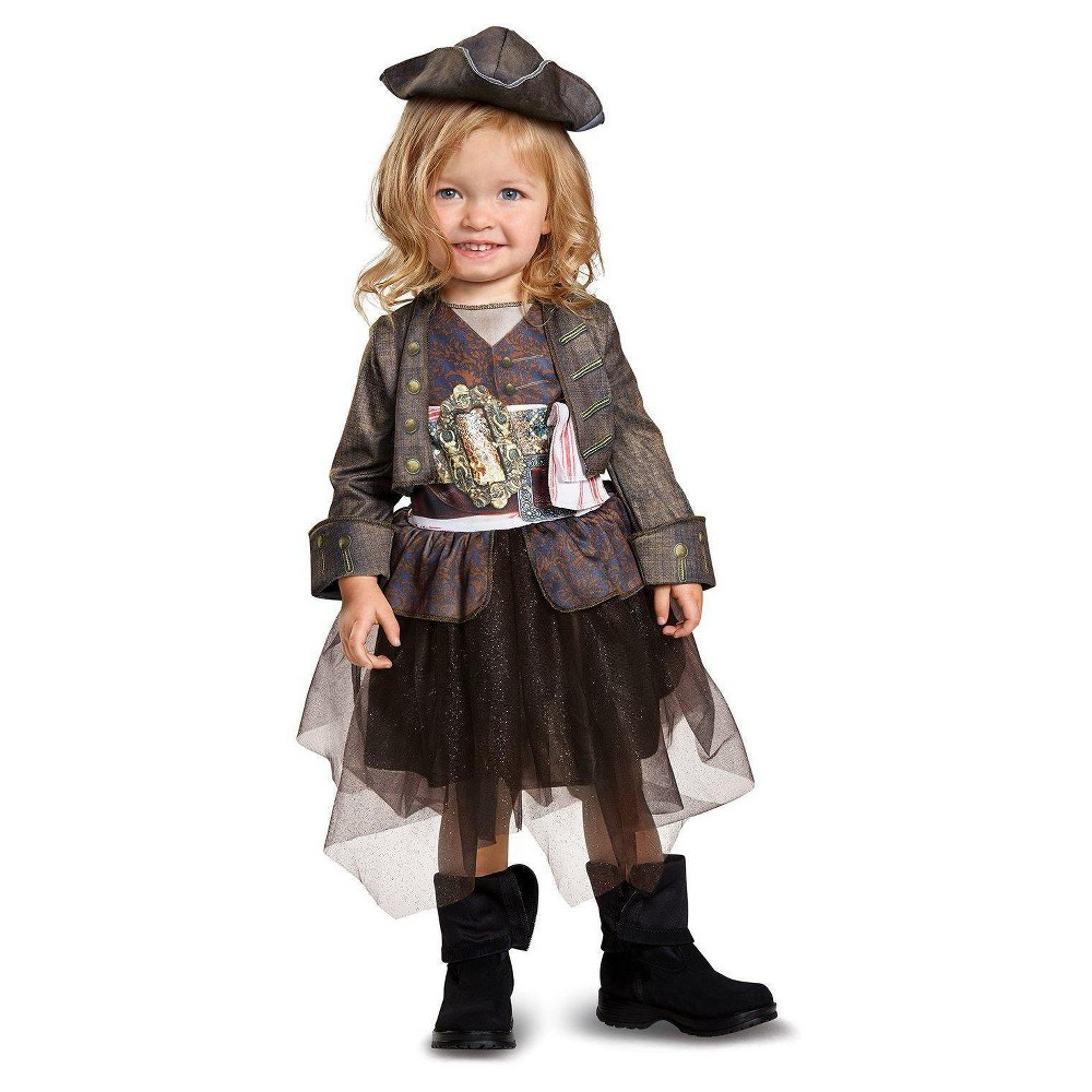 Baby Girls Captain Jack Sparrow Inspired Tutu Costume - 12-18 Months, Size: 12-18M, Multicolored
