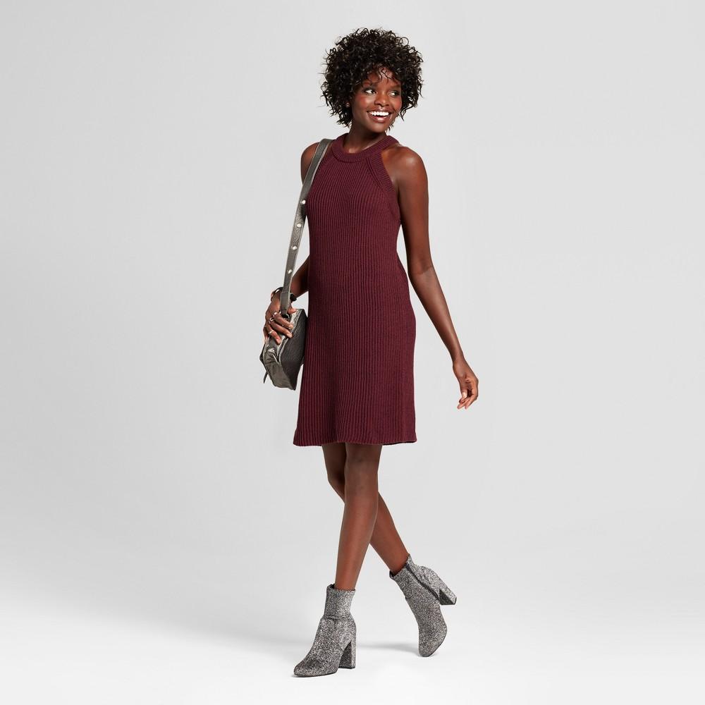 Womens High Neck Sweater Dress - Xhilaration (Juniors) Plum (Purple) XL