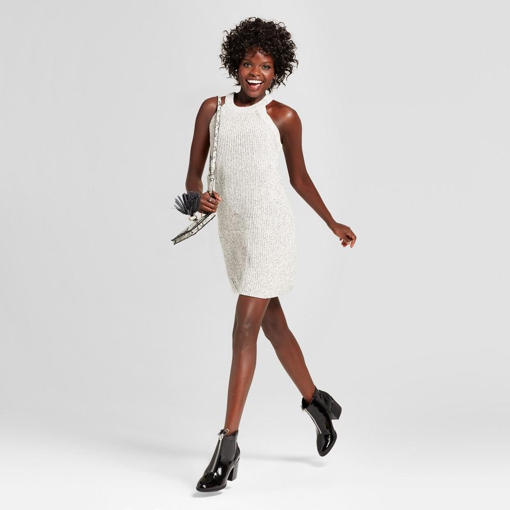 Womens High Neck Sweater Dress - Xhilaration (Juniors) Gray L