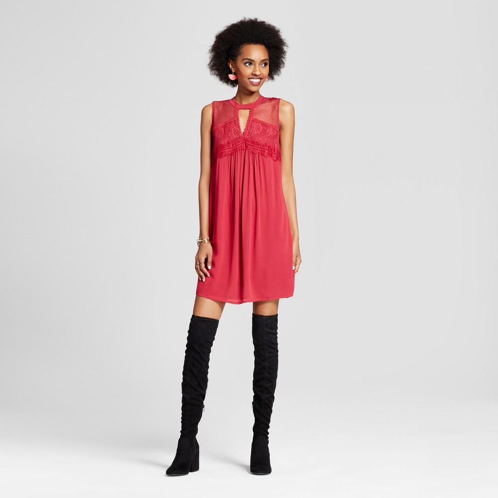Womens Cutout Shift Dress - Xhilaration (Juniors) Crimson (Red) Xxl