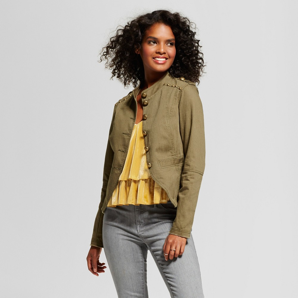 Womens Military Jacket - Xhilaration (Juniors) Olive S, Green