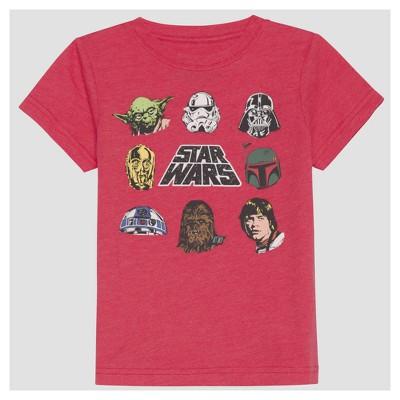 Toddler Boys' Star Wars Short Sleeve T-Shirt - Red 12M
