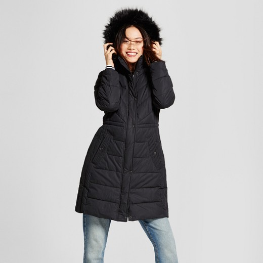 Women's Puffer Jacket with Faux Fur Hood Detail - A New Day™ : Target