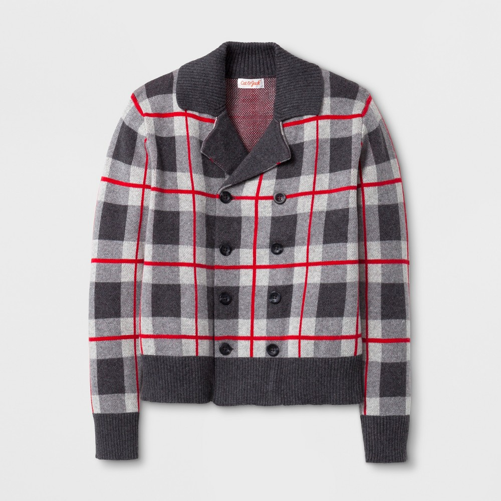 Boys Blazer Cardigan - Cat & Jack Red/Gray M