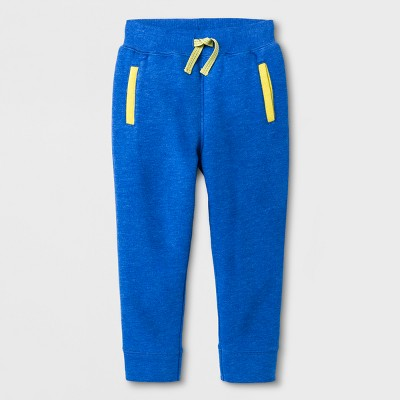 Toddler Boys' Fleece Lined Pull-On Pants - Cat & Jack™ Blue Streak 4T