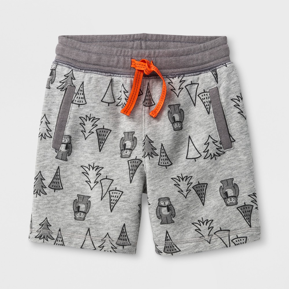Lounge Shorts Cat & Jack Gray 12 Months, Toddler Boys