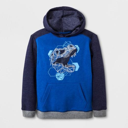 Boys' Fleece Pullover Sweatshirt - Cat & Jack™ Navy Blue : Target
