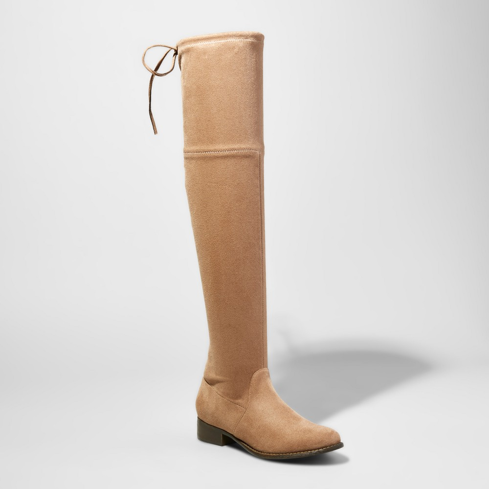 Womens Sidney Wide Width & Calf Over the Knee Boots - A New Day Taupe (Brown) 9W/WC, Size: 9 Wide Width & Calf