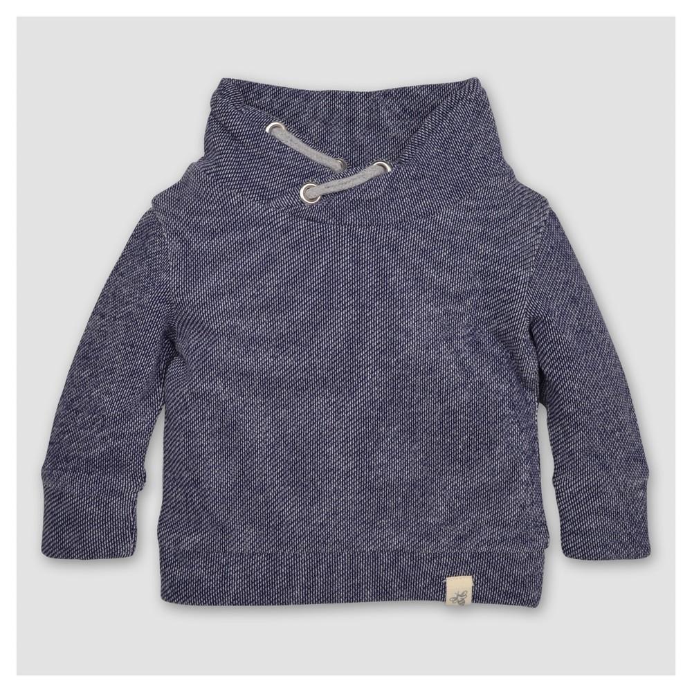 Burts Bees Baby Toddler Boys Applique Loose Pique Sweatshirt - Starry Night 2T, Blue