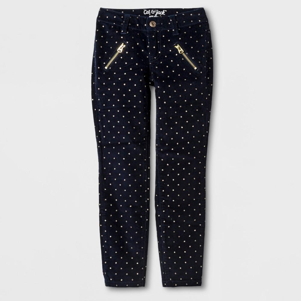 Girls Skinny Corduroy Fashion Pants - Cat & Jack Blue 4