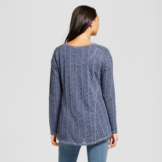 Women's Lurex Pullover Sweater with Built in Cami - Knox Rose ...