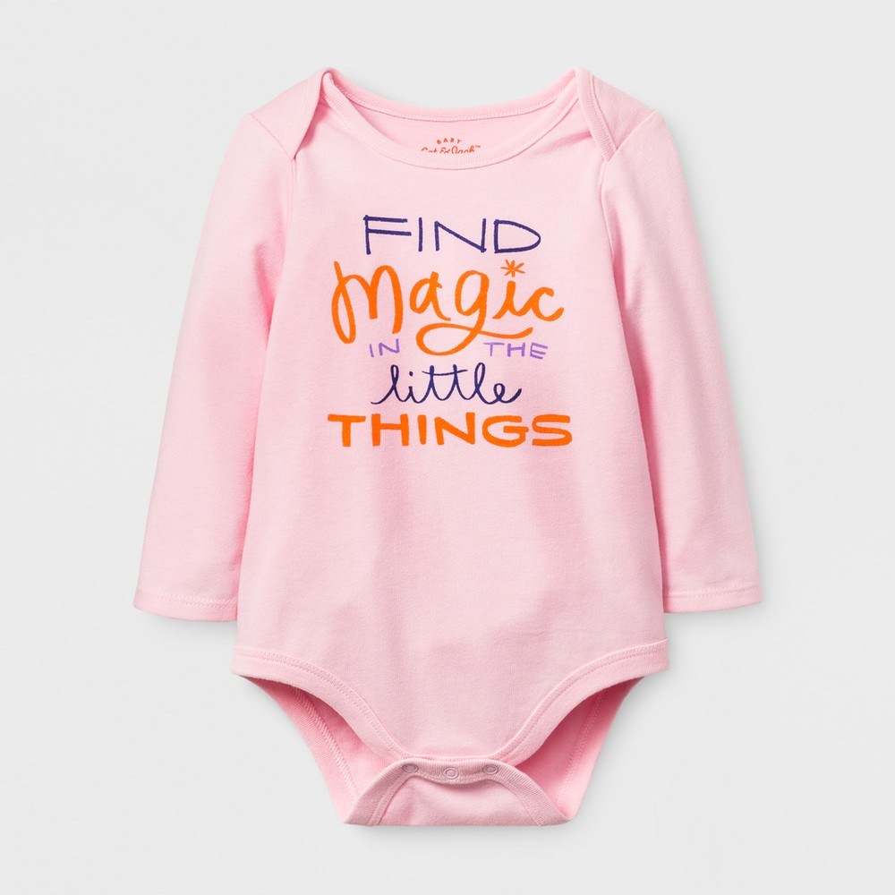 Baby Girls Find Magic Bodysuit - Cat & Jack Pink 12 M, Size: 12 Months