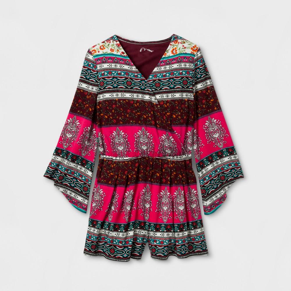 Girls Long Sleeve Knit Romper Art Class - Black M