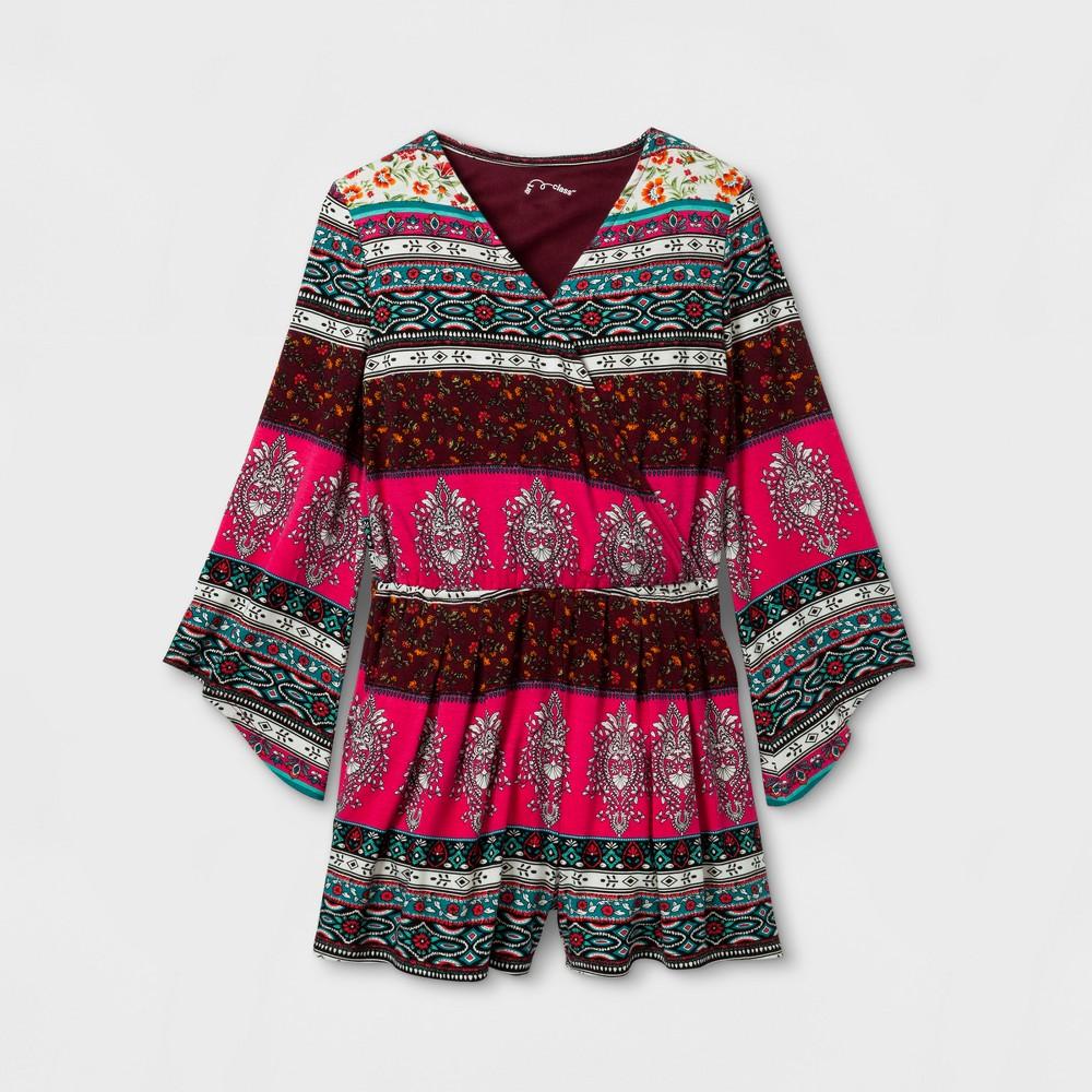 Girls Long Sleeve Knit Romper Art Class - Black XL