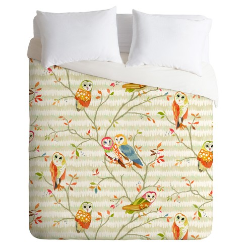 Beige Betsy Olmsted Owl Tree Duvet Cover Set - Deny Designs® - image 1 of 3