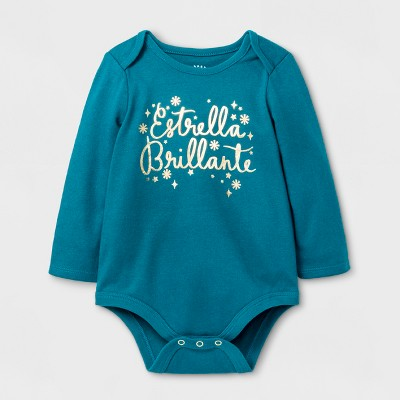 Baby Girls' Estrella Brillante Bodysuit - Cat & Jack™ Teal 6-9 M