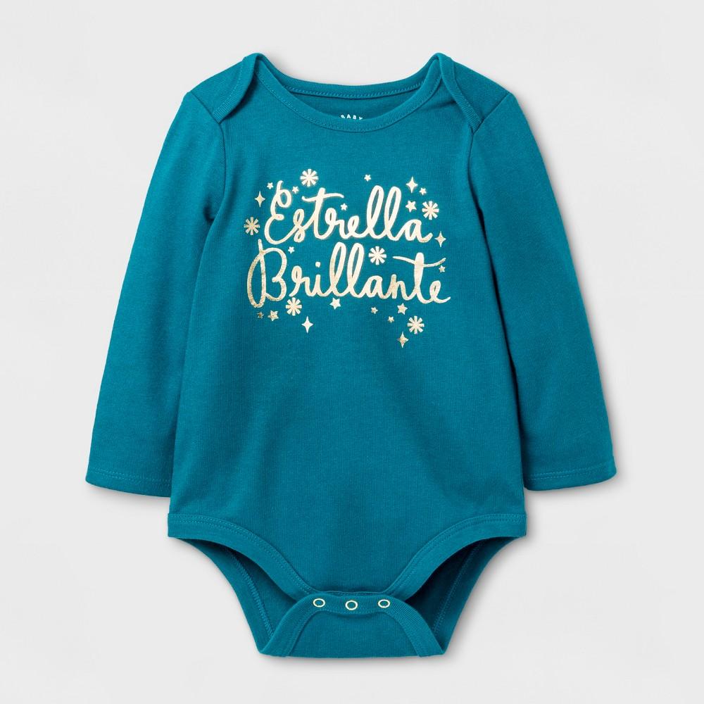 Baby Girls Estrella Brillante Bodysuit - Cat & Jack Teal 6-9 M, Blue