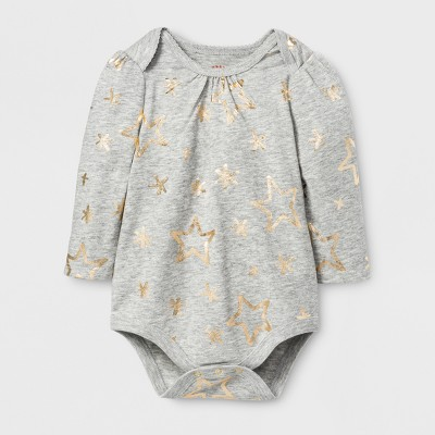Baby Girls' Big Star Bodysuit - Cat & Jack™ Gray 3-6 M