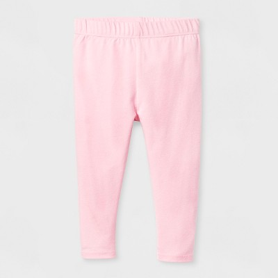 Baby Girls' Bow Leggings - Cat & Jack™ Pink 6-9 M
