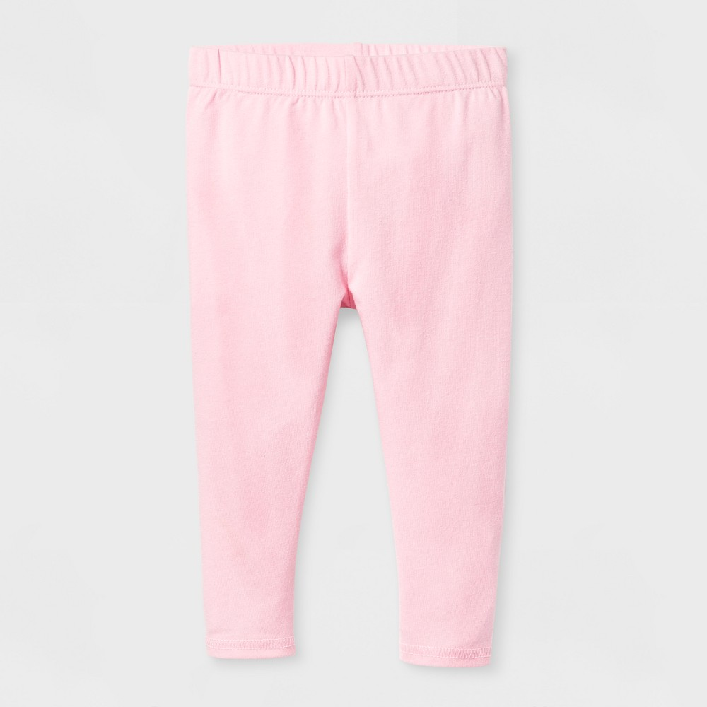 Baby Girls Bow Legging - Cat & Jack Pink 12 M, Size: 12 Months