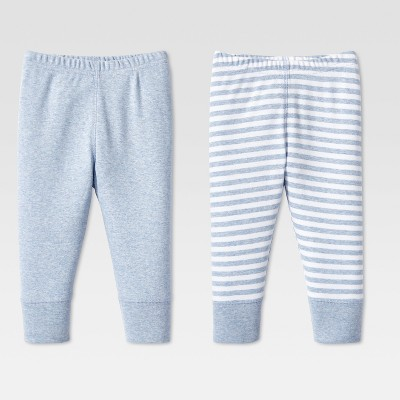 Lamaze Baby Boys' Organic 2pc Pants Set - Blue 6M