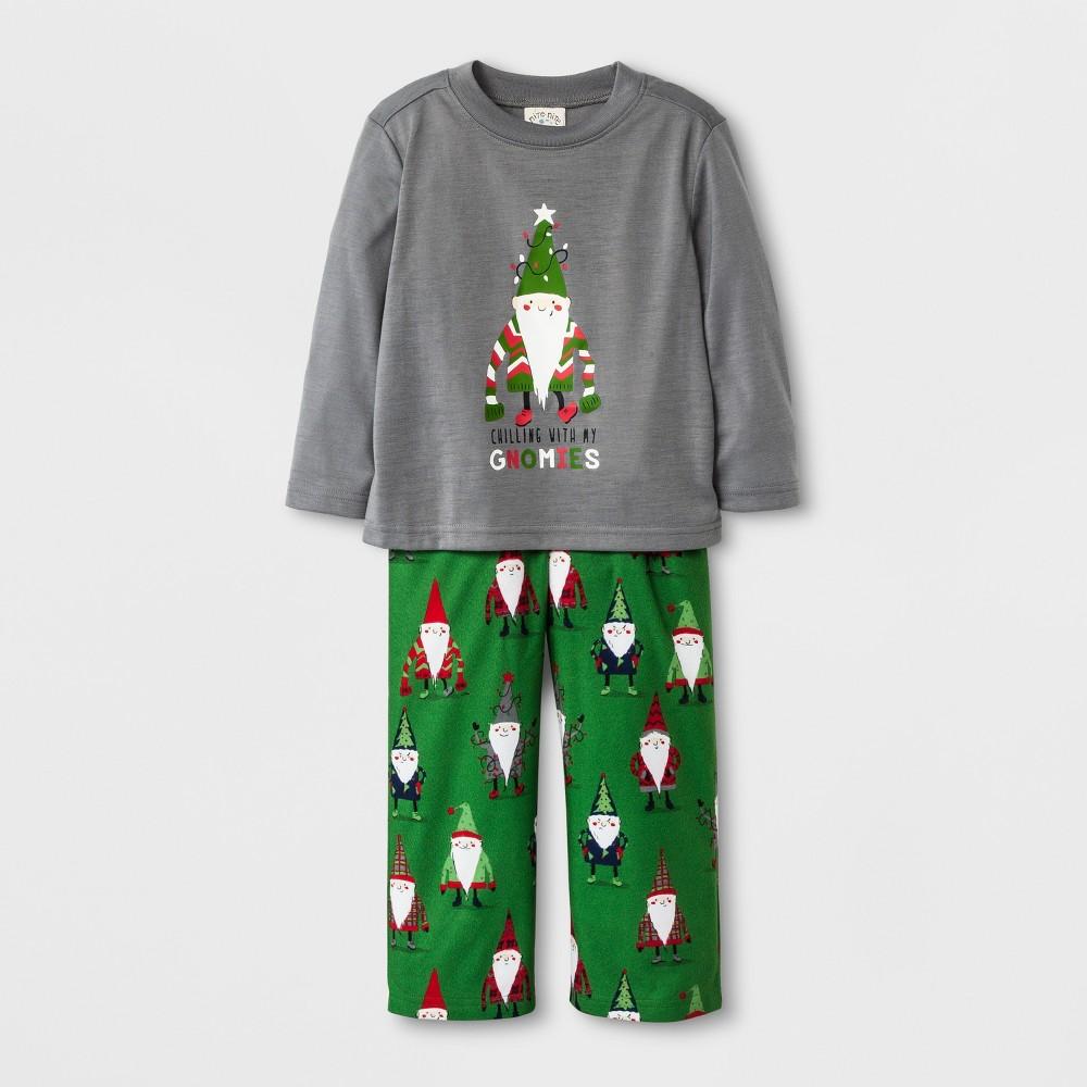 Pajama Set Nite Nite Munki Gray 3T, Toddler Boys
