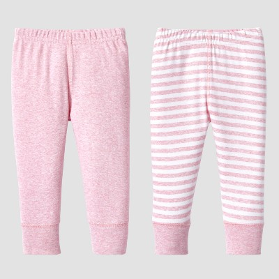 Lamaze Baby Girls' Organic 2pc Pants Set - Pink 12M