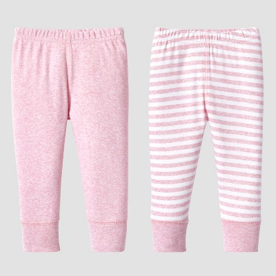 Lamaze Baby Girls' Organic 2pc Pants Set - Pink 3M