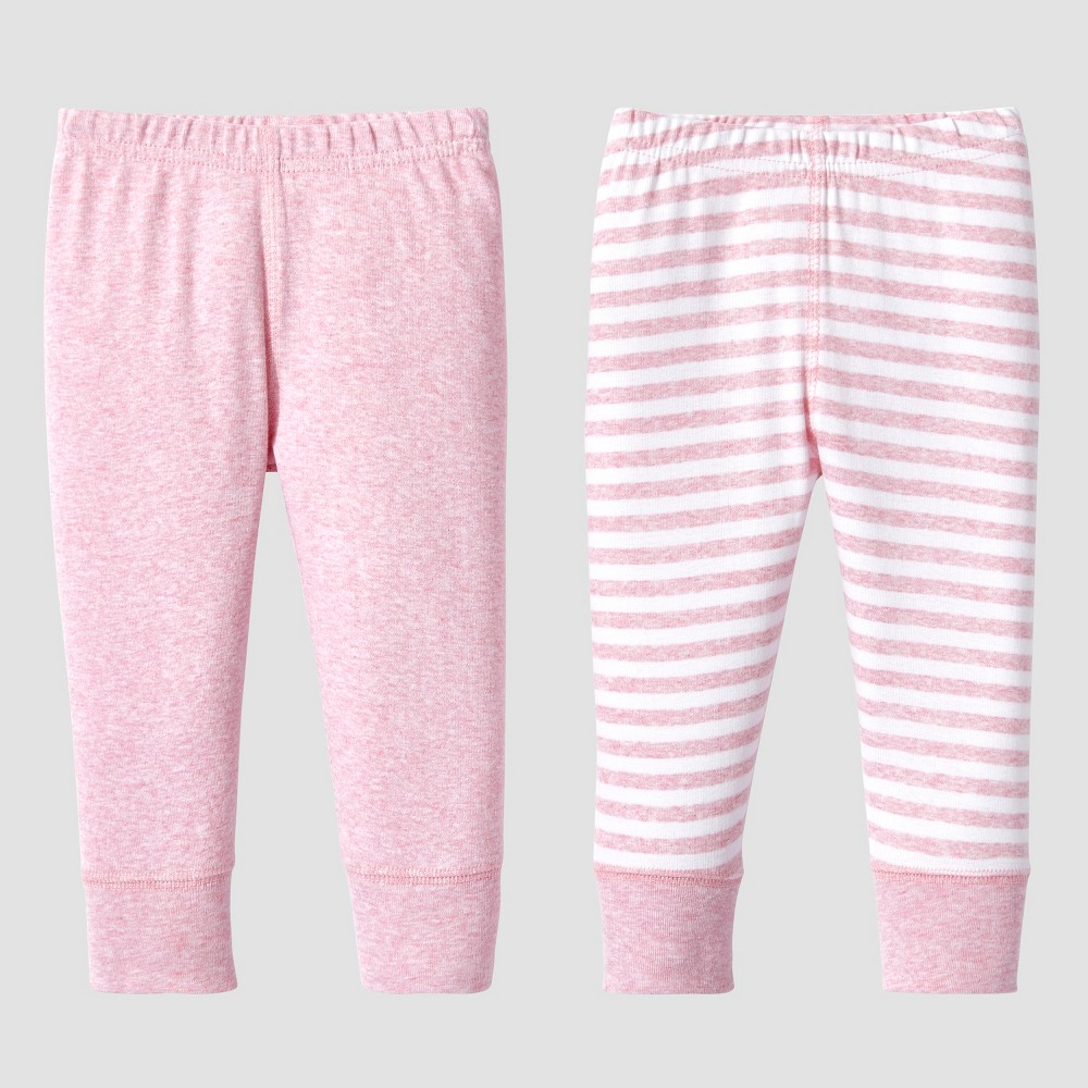 Lamaze Baby Girls Organic 2pc Pants Set - Pink 3M