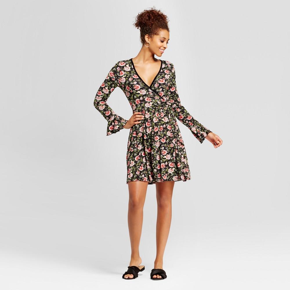 Womens Knit Bell-Sleeve - Xhilaration (Juniors) Black L