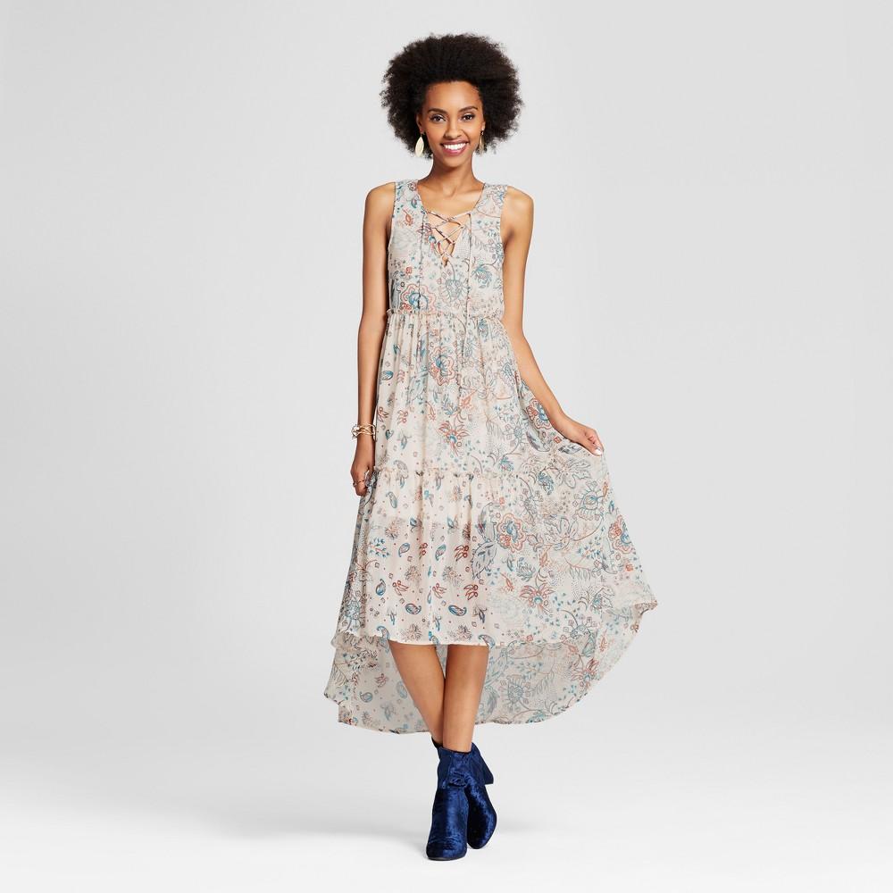 Womens Lace-Up High Low Maxi Dress - Xhilaration (Juniors) Ivory Xxl