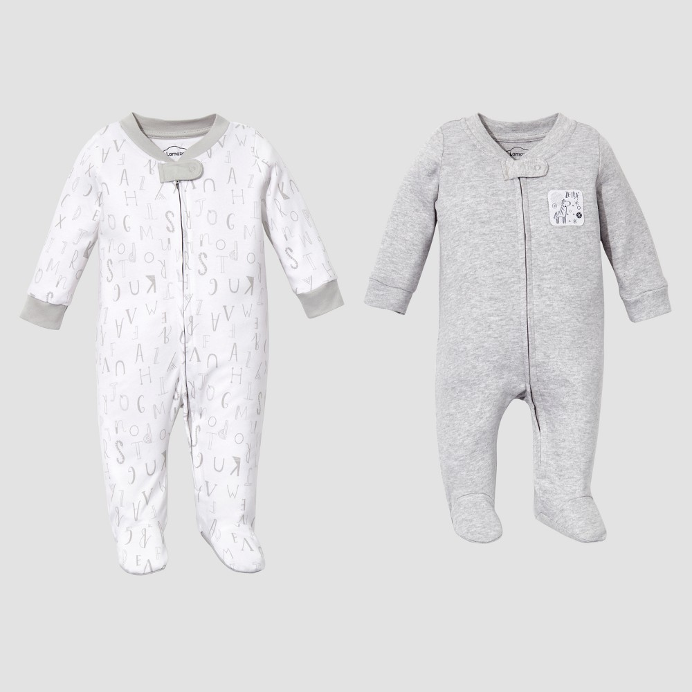 Lamaze Baby Organic 2 pc Sleep N Play Set - Gray NB, Infant Unisex