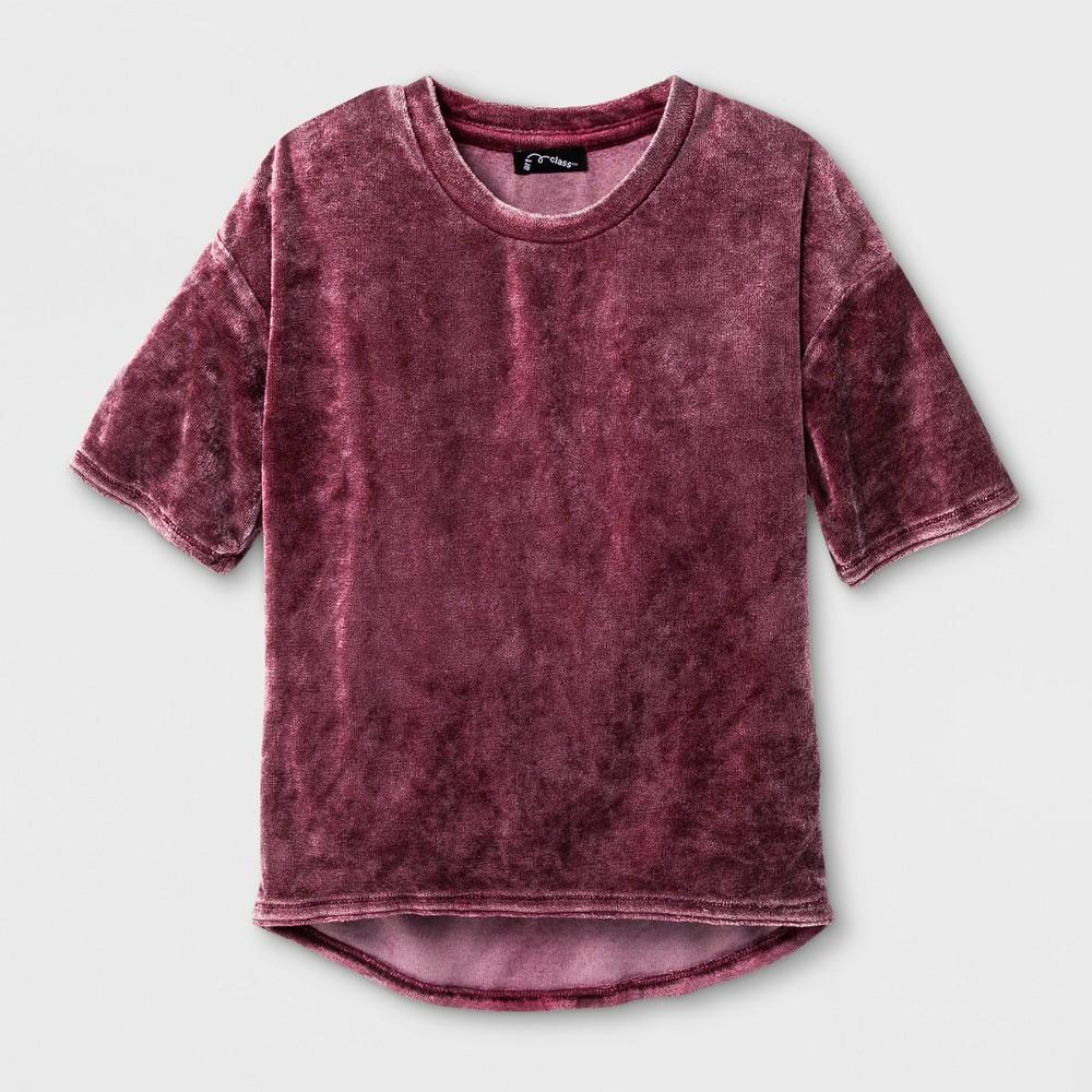 Girls Velvet T-Shirt - Art Class Rose Taupe L