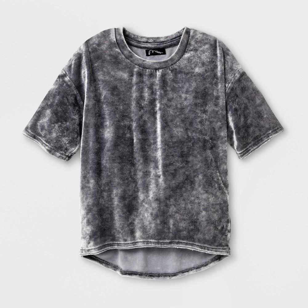 Girls Velvet T-Shirt - Art Class Gray S