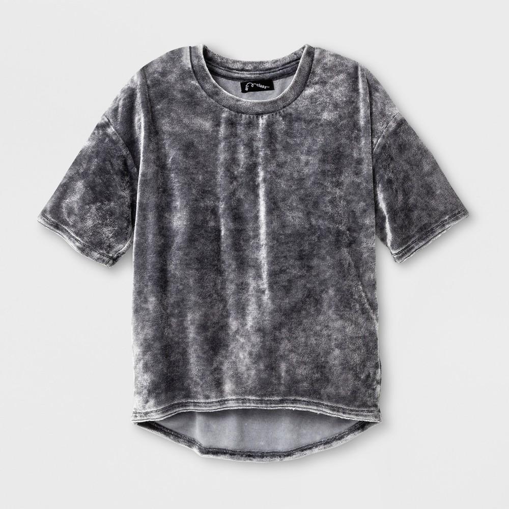 Girls Velvet T-Shirt - Art Class Gray M