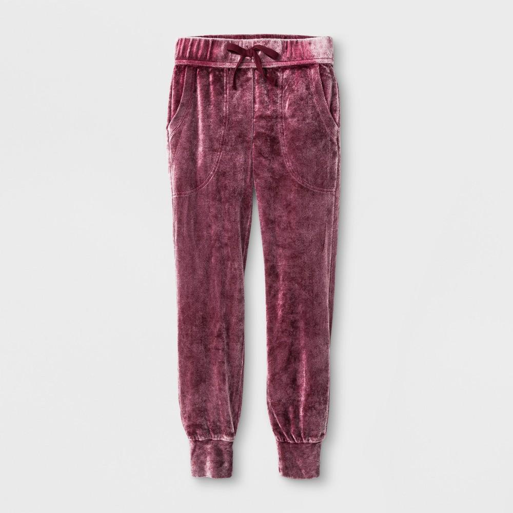 Girls Velvet Jogger Pants - Art Class Rose Taupe S