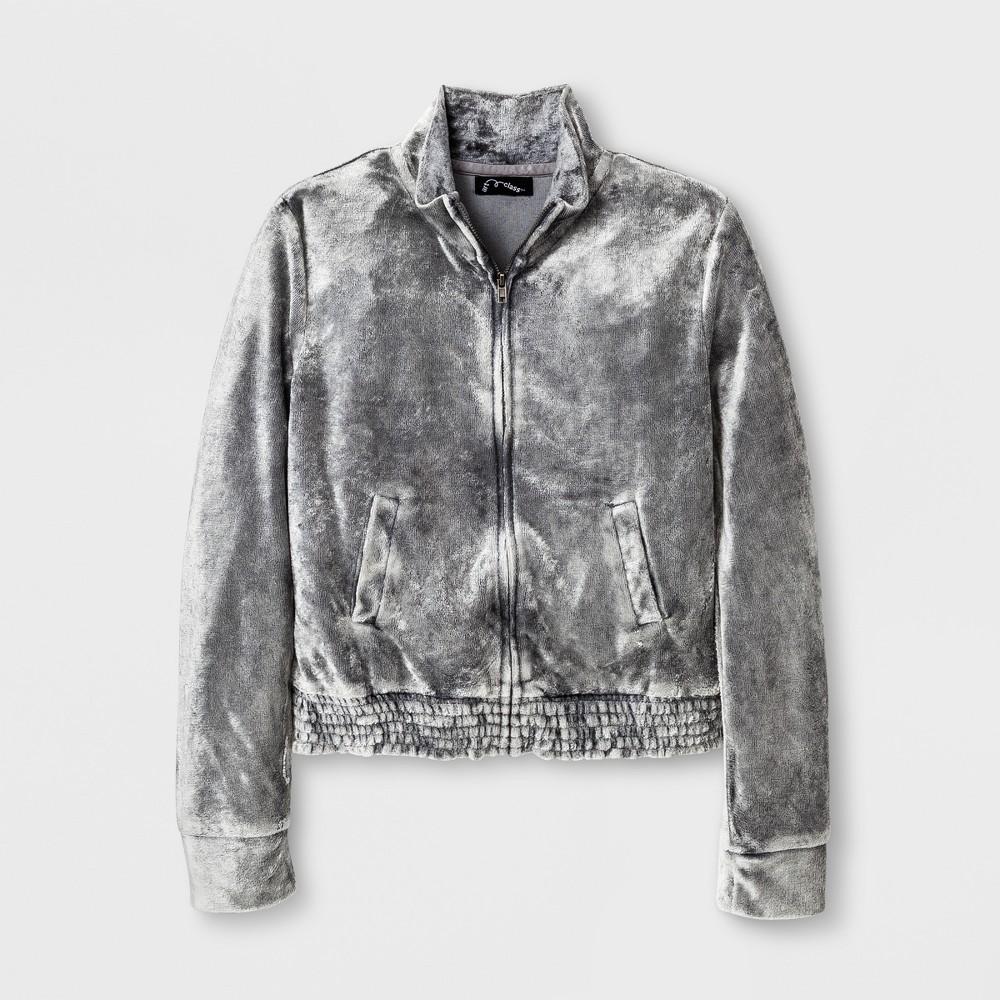 Girls Velvet Jacket - Art Class Gray XL