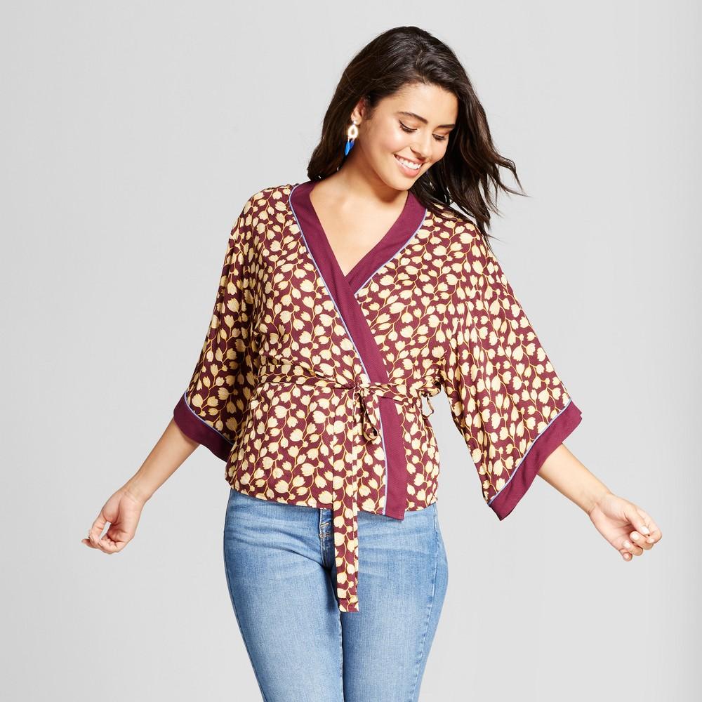 Womens Wrap Kimono - Xhilaration (Juniors) Berry L, Red