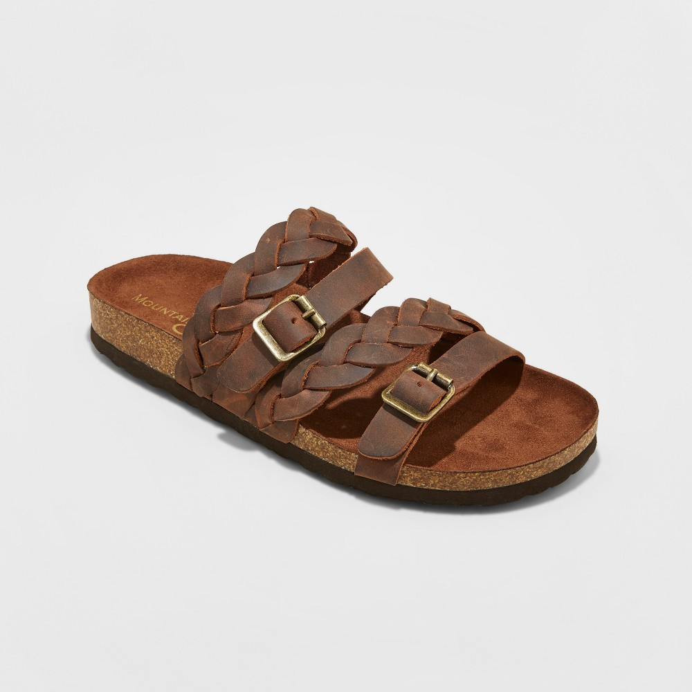 Womens Mountain Sole Hanley Multi Strap Footbed Sandals - Brown 10